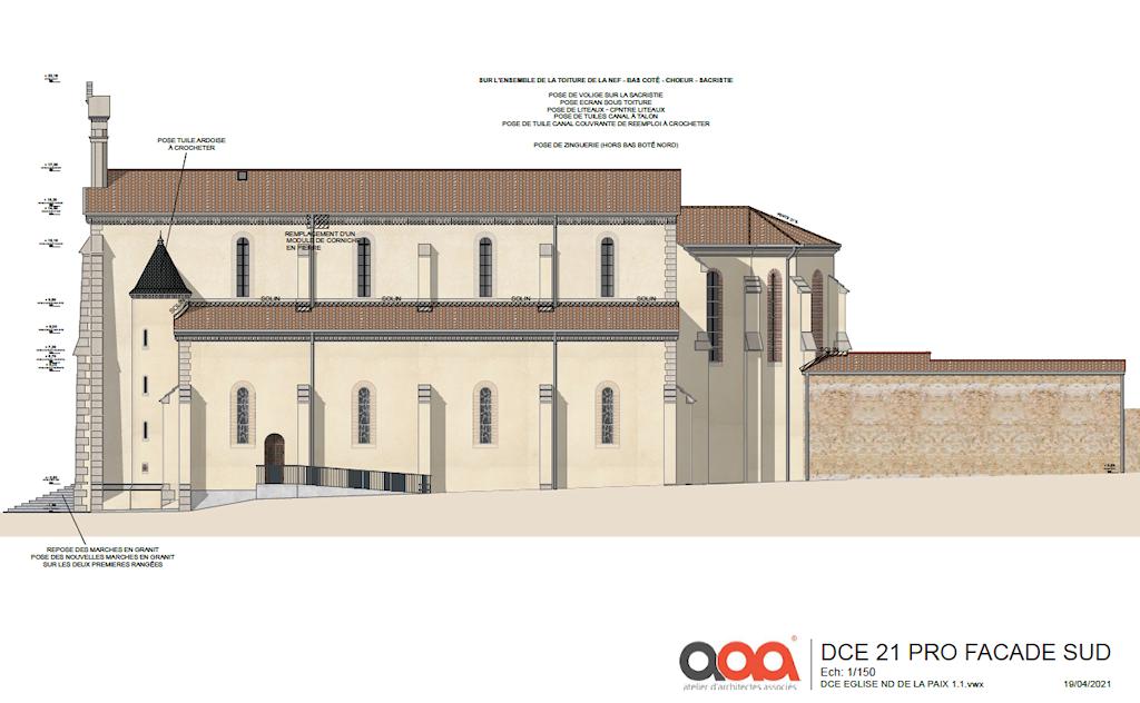 Rénovation toitures, perron et façades de l'église