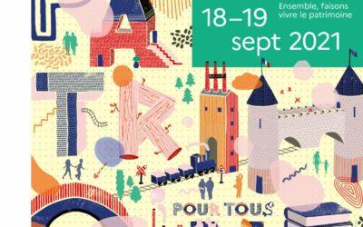 18-19 Sept. Journées Européennes du Patrimoine 2021
